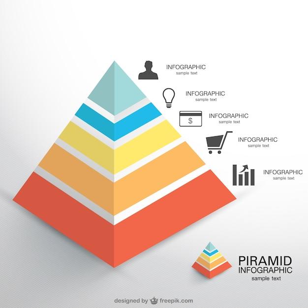 ピラミッドベクトルinfogaphic 無料ベクター