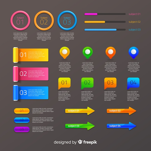 Infografic element collection Free Vector