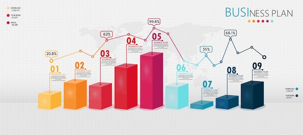 Infographic 3d elements or diagrams of education businesses can be used in teaching and learning step. Premium Vector