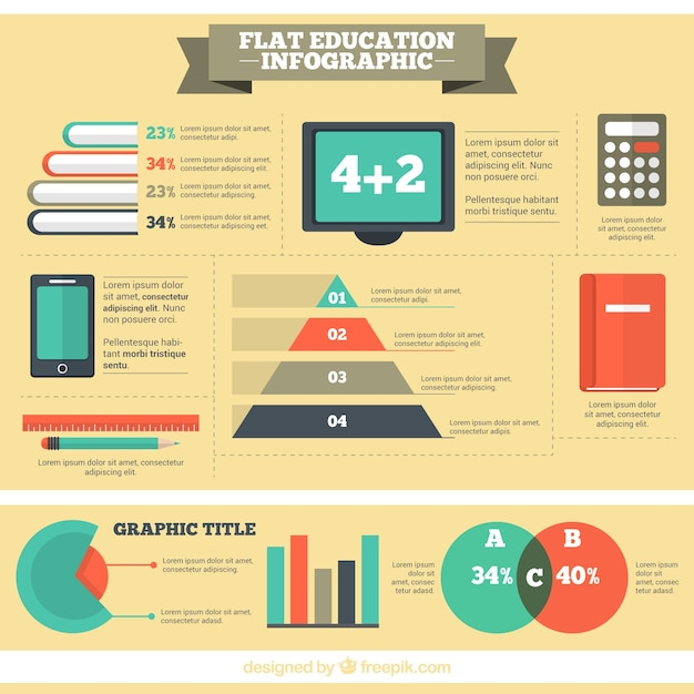 Infographic about the education system Vector | Free Download