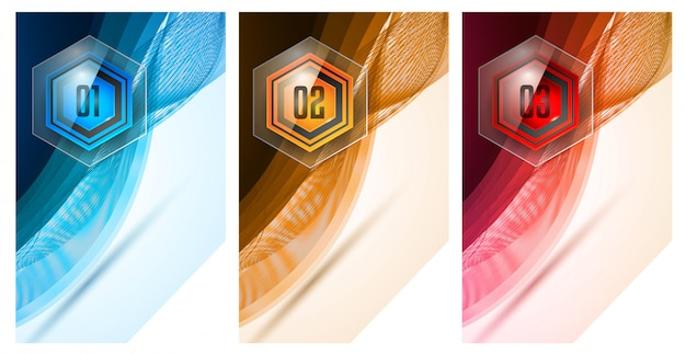 Infographic abstract template with multiple choices glass buttons Premium Vector