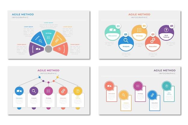 Инфографика проворный шаблон Бесплатные векторы