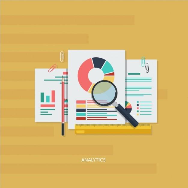 Infographic analytic elements Free Vector