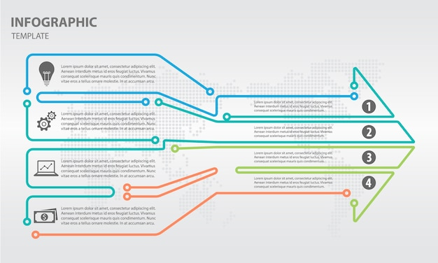 Infographic arrow design Premium Vector