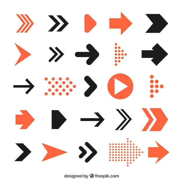 21 Download In Vector Eps Psd: Infographic Arrows Pack Vector