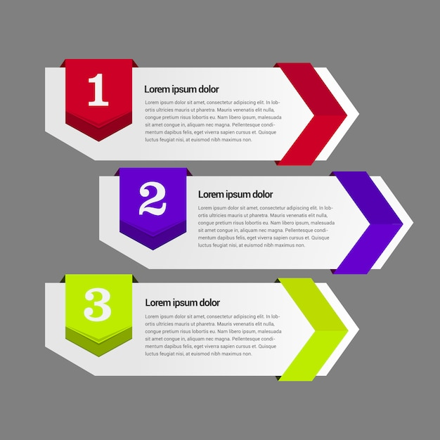 Infographic Banners Template Vector Free Download
