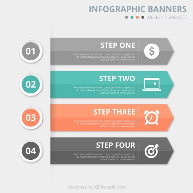 Infographic Banners Template Vector