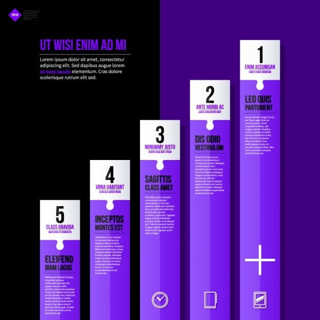 Infographic Bar Chart Template Vector | Free Download