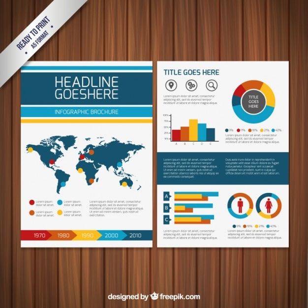 Infographic Brochure Template Vector Free Download - Infographic brochure template