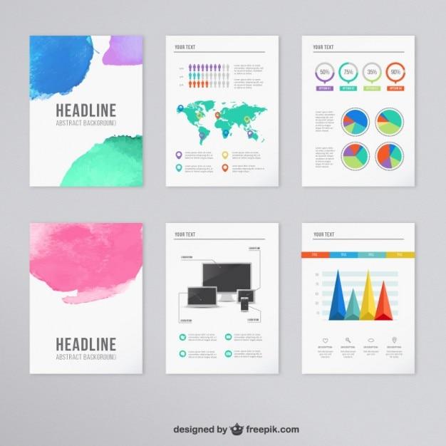 infographic brochure template - infographic brochure vector premium download