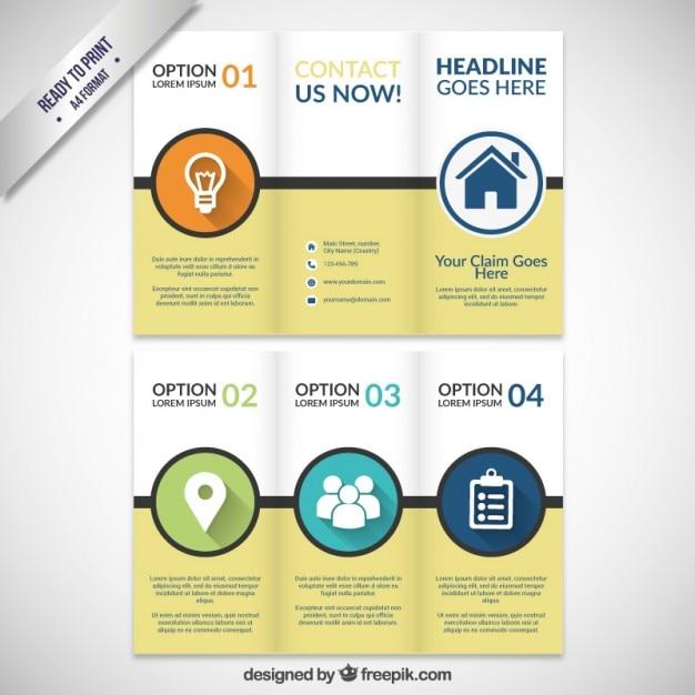 Infographic Brochure Vector Free Download