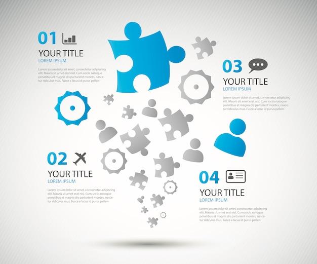 Infographic business options brochure vector illustration Premium Vector