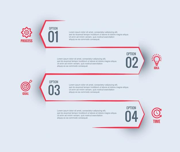 Инфографики бизнес шаблон дизайна Бесплатные векторы