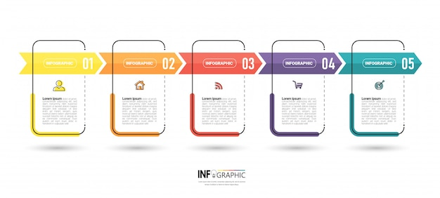 Infographic business template design. Premium Vector