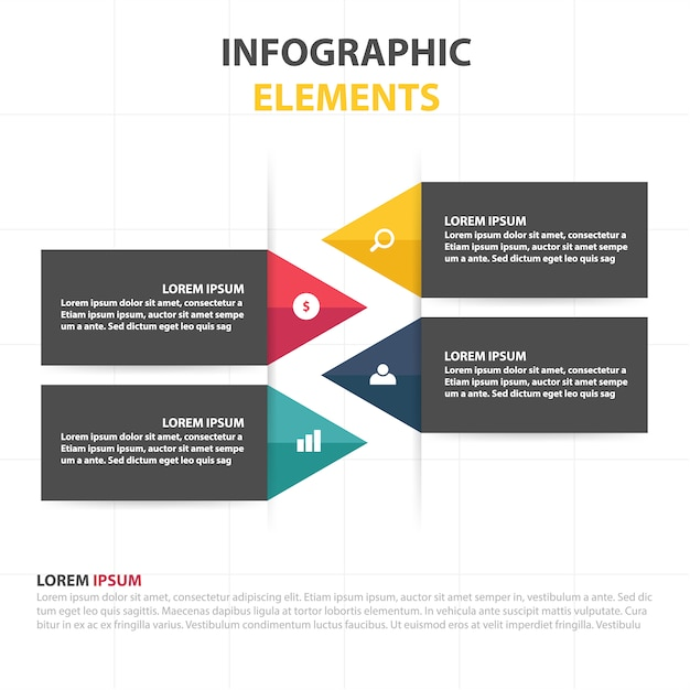 Infographic business template with space for text Free Vector