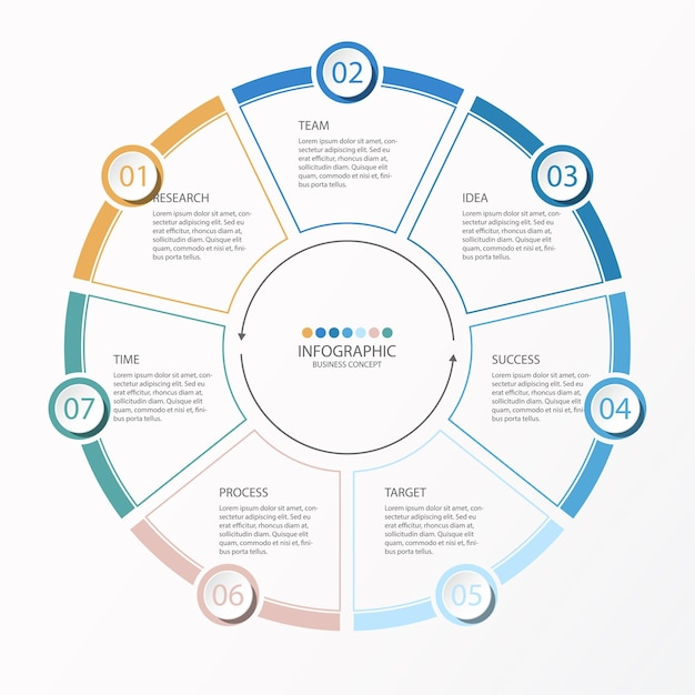 Infographic chart illustration Premium Vector