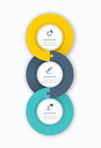 Infographic Circle Timeline Web Template For Business With Icons - Timeline website template