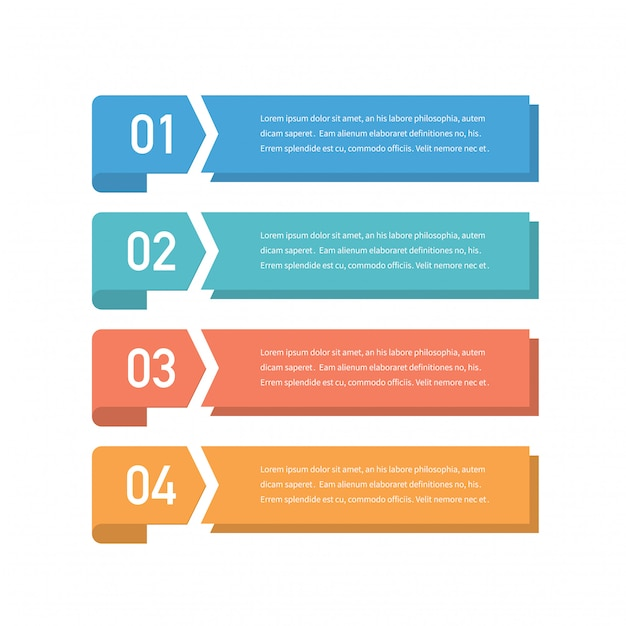 Infographic Concept Design With Four Options Steps Or Processes Can Be Used For Workflow Layout Annual Report Flow Charts Diagram Presentations Web Sites Banners Printed Materials Premium Vector