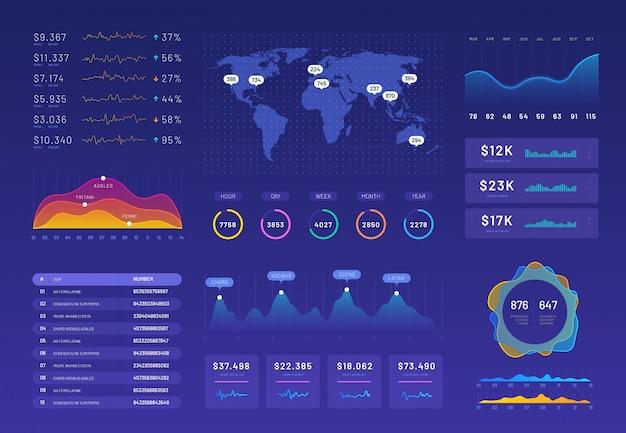 Набор шаблонов инфографики Premium векторы