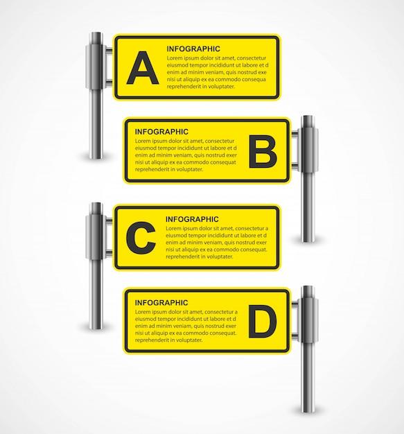Infographic design for business presentations. Premium Vector