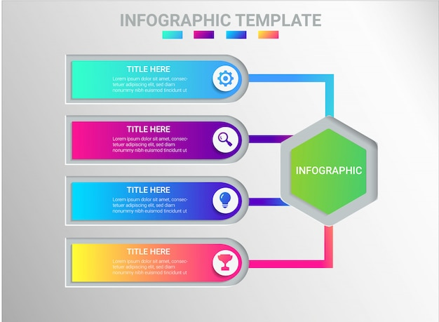 Infographic design color full Premium Vector