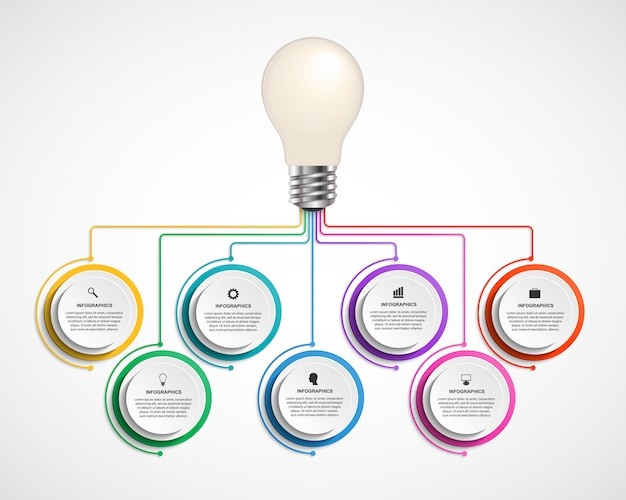 Infographic design organization chart template. Premium Vector