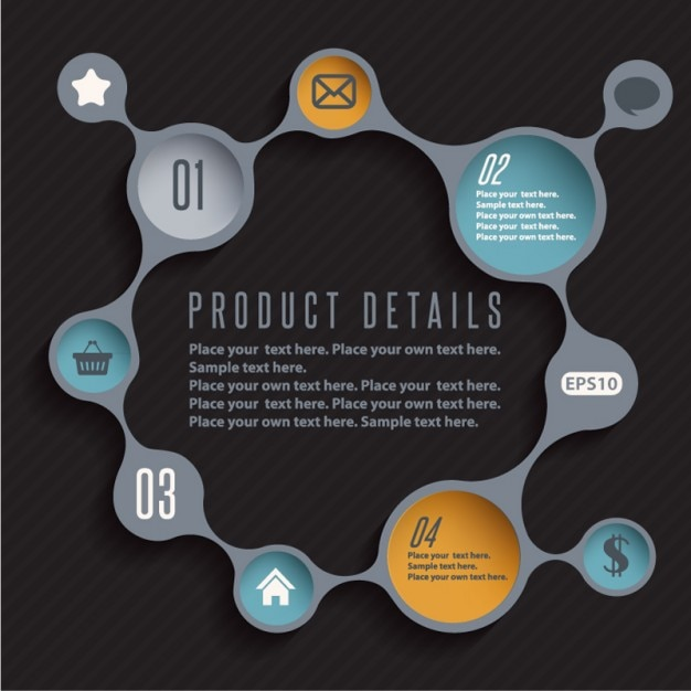 infographic design product template vector vector free download. Black Bedroom Furniture Sets. Home Design Ideas