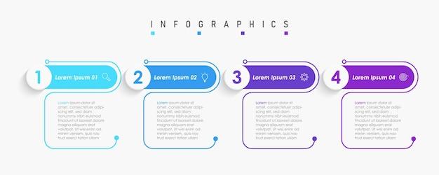 アイコンとオプションまたはステップを含むインフォグラフィックデザインテンプレート Premiumベクター