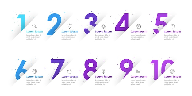 Infographic design template with icons and options or steps Premium Vector