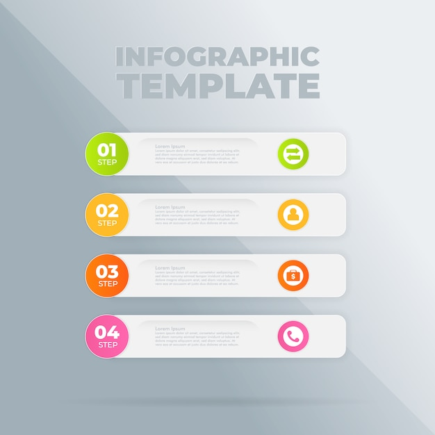 Infographic design template with options or steps Premium Vector