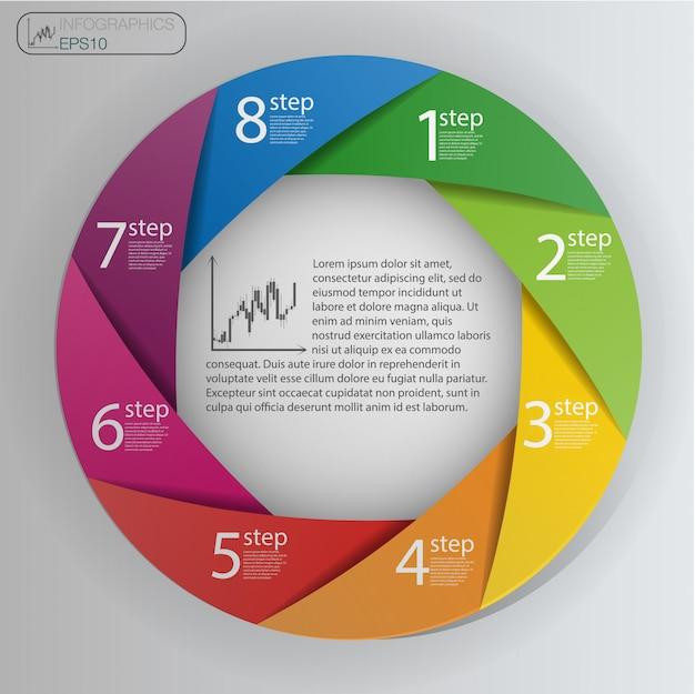 Infographic design template Premium Vector