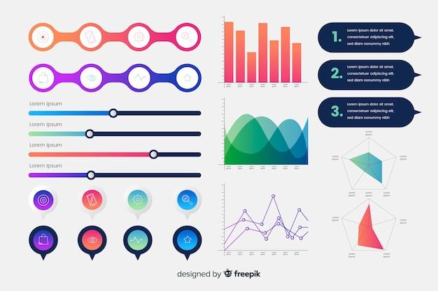 Infographic element collectio Free Vector