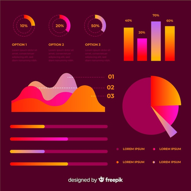 Infographic element collectio Free Vector