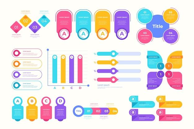Infographic element collection Premium Vector
