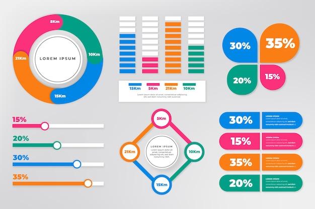 Collezione di elementi infografici Vettore gratuito
