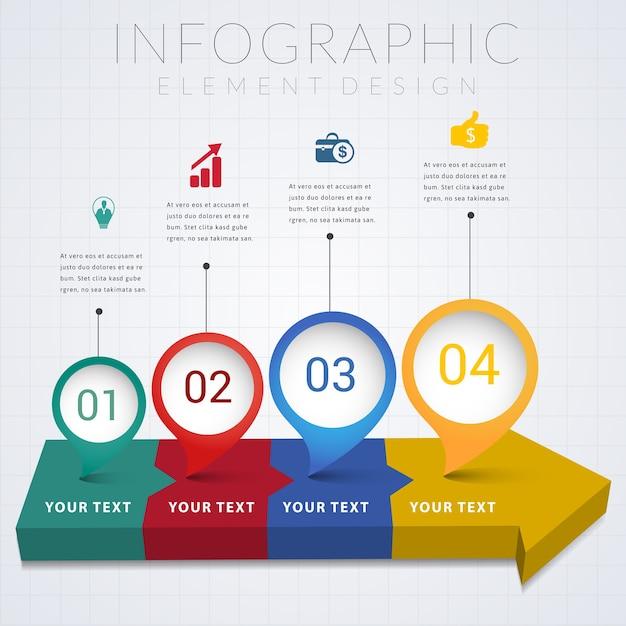 Infographic element design infographic design. Premium Vector