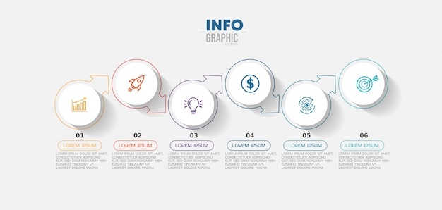 Infographic element with icons and options or steps. Premium Vector