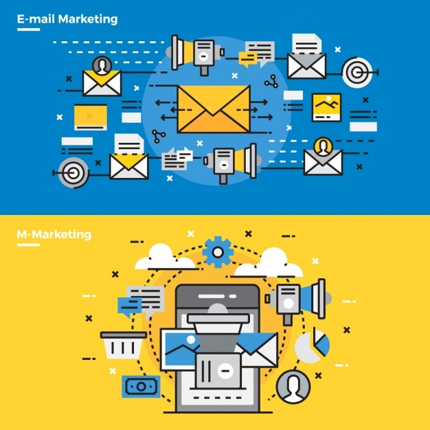 Infographic elements about email marketing Free Vector
