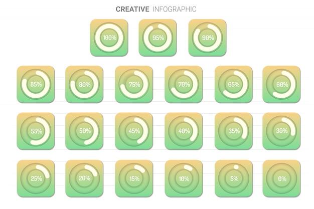 Infographic elements chart circle. Premium Vector