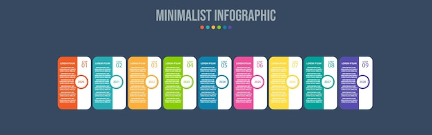 Infographic elements data visualization template Premium Vector
