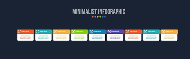 Infographic elements data visualization template Premium Vector