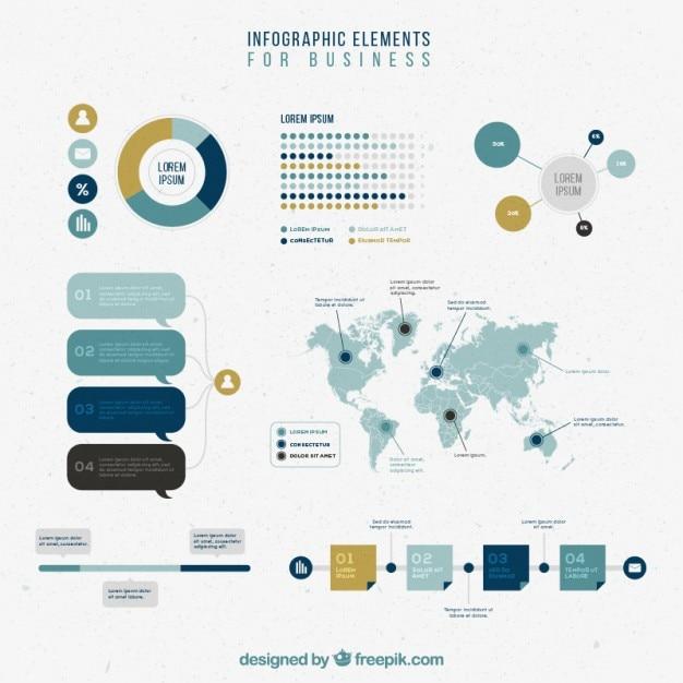 عناصر اینفوگرافیک مجموعه برای کسب و کار