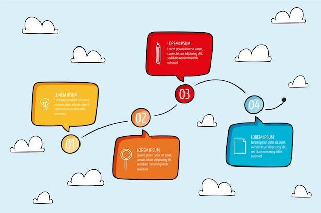 Insieme di elementi di infografica Vettore gratuito