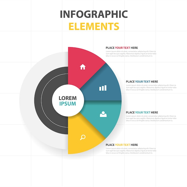 Infographic elements template Free Vector