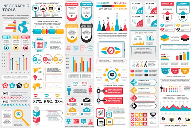 Infographic elements vector design template Premium Vector