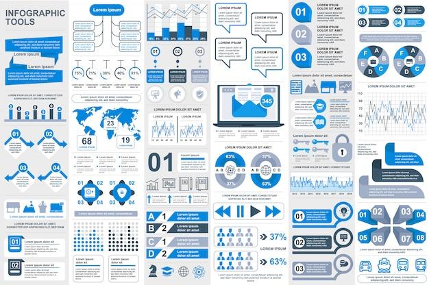 Infographic elements vector design template Premium Vector
