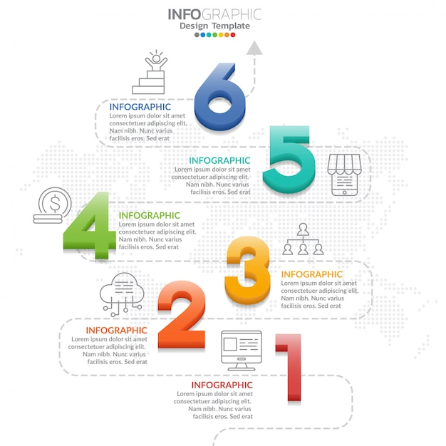 Infographic elements with icon and option. Premium Vector