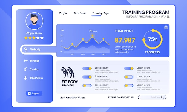 Fitness Program Template from image.freepik.com