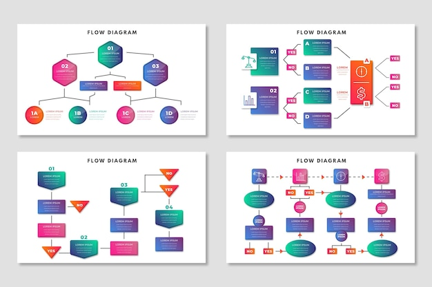 Infographic flow diagram Free Vector