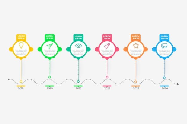 Infographic gradient timeline Free Vector
